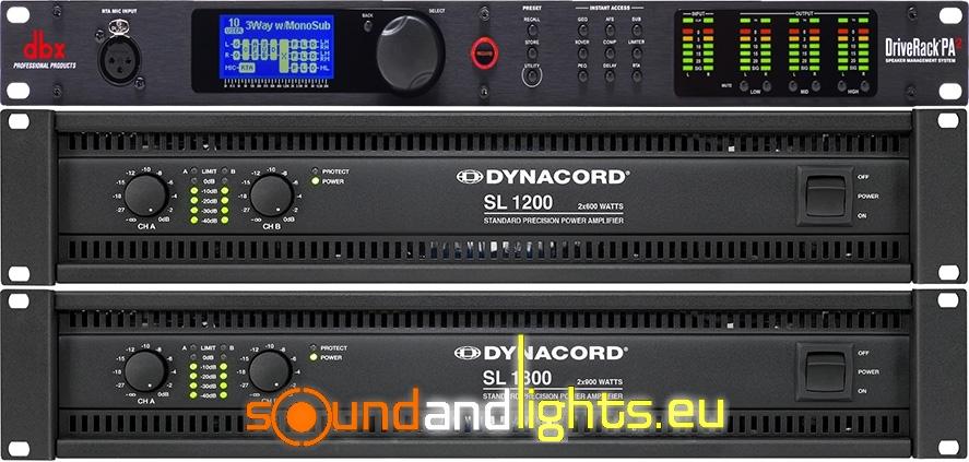 Rack Dynacord SL1200 + SL1800 + DBX Driverack PA2